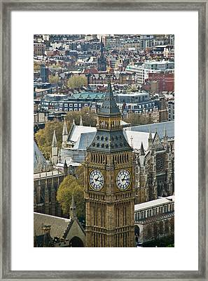 Big Ben Up Close And Personal Framed Print by Douglas Barnett