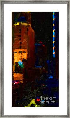 Big City Abstract Framed Print by Wingsdomain Art and Photography