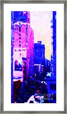 Big City Blues Framed Print by Wingsdomain Art and Photography