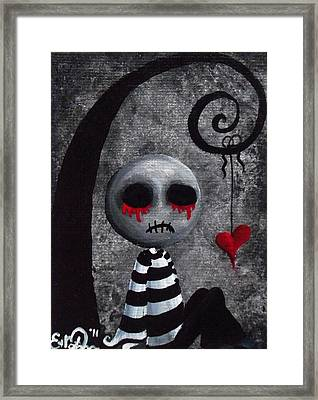 Big Juicy Tears Of Blood And Pain 2 Framed Print by Oddball Art Co by Lizzy Love