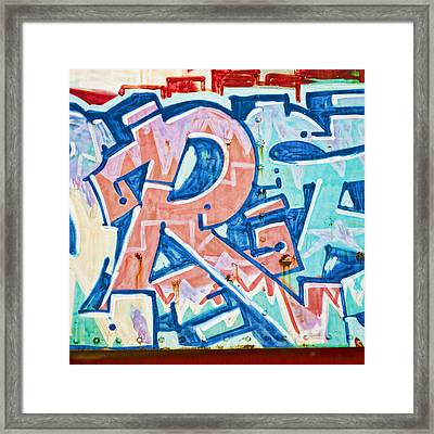 Big Orange R Framed Print by Carol Leigh