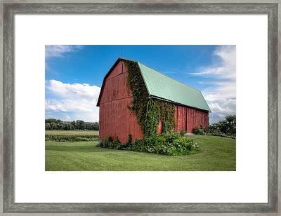 Big Red Barn On Rt 227 Framed Print by Gary Heller