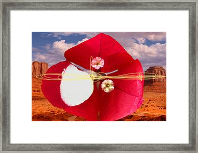 Big Red Desert 1 Framed Print by Geronimo