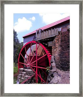 Big Red Wheel Framed Print by Sandi OReilly
