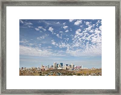 Big Sky Yeg Framed Print by Stan Kwong