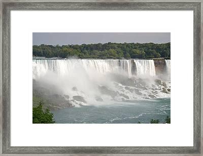 Big Waterfall Framed Print by Naomi Berhane