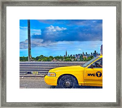 Big Yellow Taxi Framed Print by Marianne Campolongo