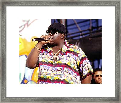 Biggie  Notorious B.i.g.1995 Framed Print by Chris Walter