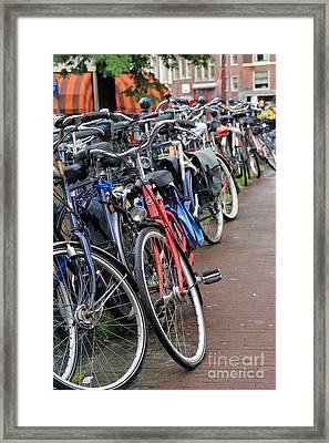 Bike Frenzy Framed Print by Sophie Vigneault
