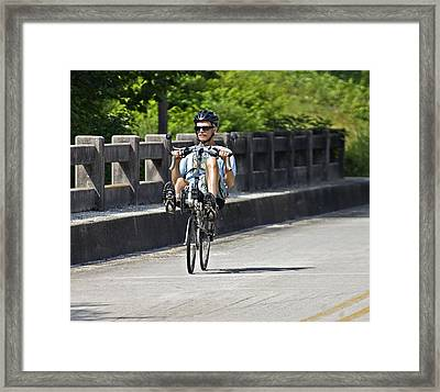 Bike Ride Across Georgia Framed Print by Susan Leggett