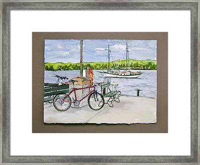 Bikes At Fish Creek Framed Print by Laurel Fredericks