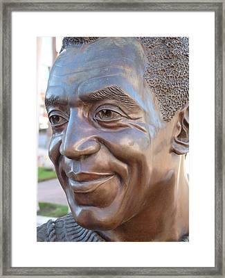 Bill Cosby Bust I Framed Print by Jeff Lowe