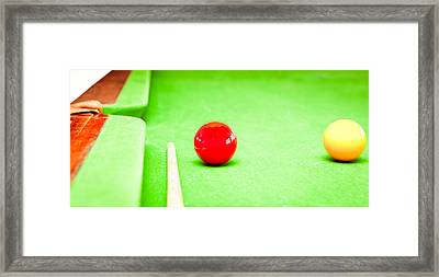 Billiard Table Framed Print by Tom Gowanlock