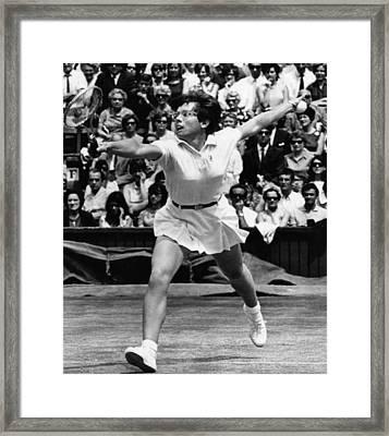 Billie Jean King, Wimbledon, England Framed Print by Everett
