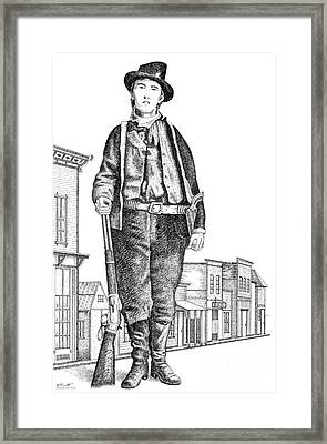 Billy-the-kid Framed Print by Gordon Punt