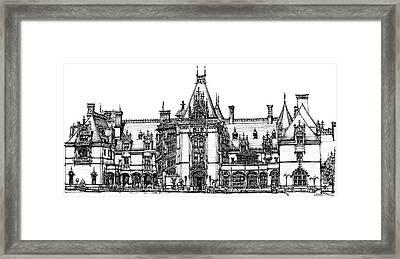 Biltmore House In Asheville Framed Print by Building  Art