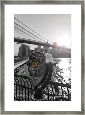 Binoculars Nyc View Framed Print by AHcreatrix