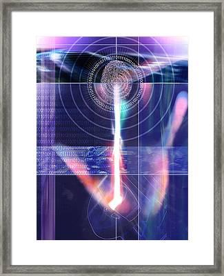 Biometric Fingerprint Framed Print by Pasieka