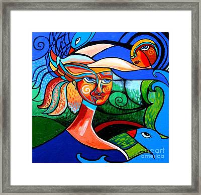 Bird Lady Framed Print by Genevieve Esson