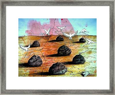 Birds Solicitous Of Light Framed Print by Paulo Zerbato