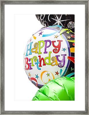 Birthday Balloons Framed Print by Tom Gowanlock