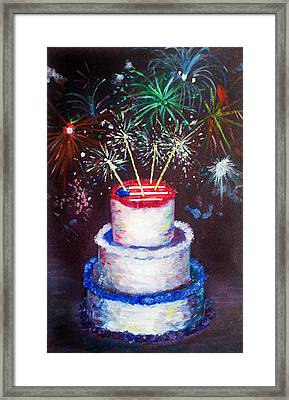 Birthday In America Framed Print by Ann Marie Napoli