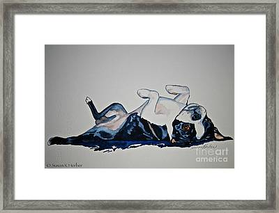 Birthday Suit Framed Print by Susan Herber