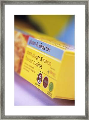Biscuit Packaging Framed Print by Veronique Leplat
