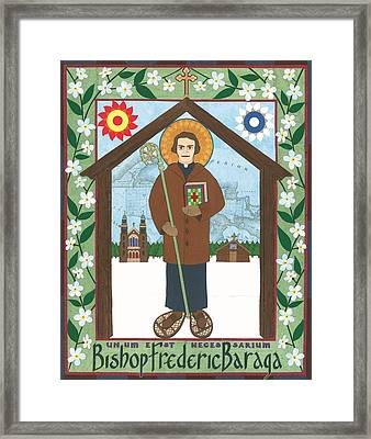 Bishop Frederic Baraga Icon Framed Print by David Raber
