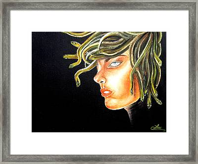 Bitch Framed Print by Chris Law