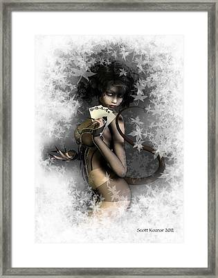 Black Aces And 8s   The Dead The Man's Hand Framed Print by Scott Koznar