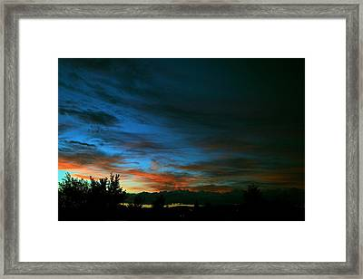 Black And Blue Framed Print by Kevin Bone
