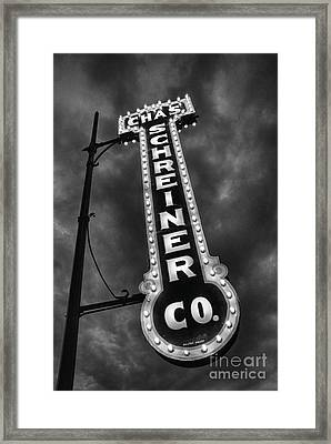 Black And Light Framed Print by Ken Williams