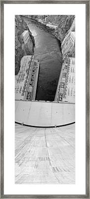 Black And White Hoover Dam Framed Print by Twenty Two North Photography