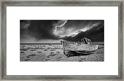 Black And White In Dungeness Framed Print by Meirion Matthias