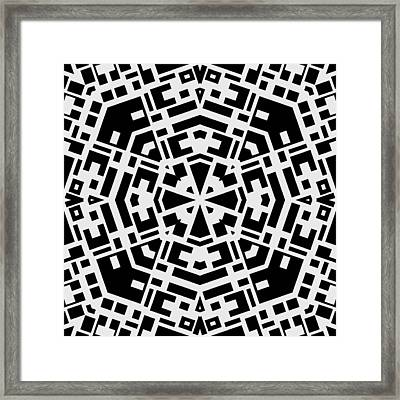 Black And White Kaleidoscope Framed Print by David G Paul