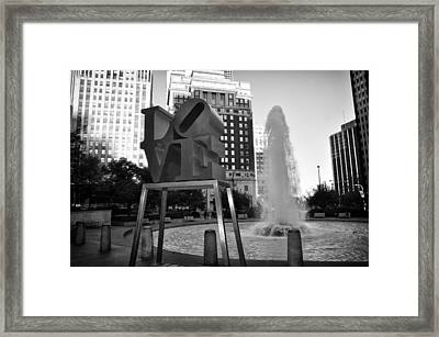 Black And White Love Framed Print by Bill Cannon