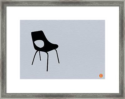 Black Chair Framed Print by Naxart Studio
