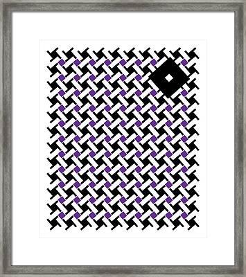 Black Flag 4. Framed Print by Nancy Mergybrower