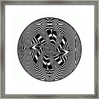 Black Flower Framed Print by Visual Artist  Frank Bonilla