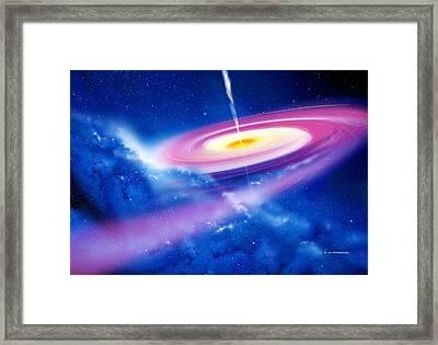 Black Hole Framed Print by Detlev Van Ravenswaay