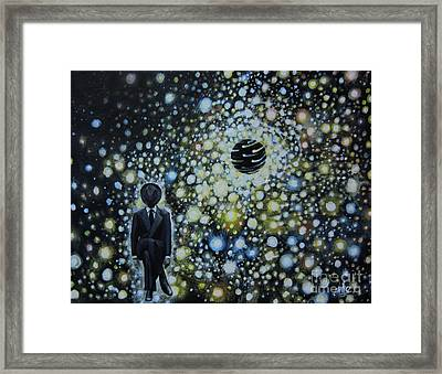 Black Hole Man Framed Print by Shelly Leitheiser
