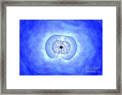 Black Hole Preceding Grb Event Framed Print by NASA / Science Source