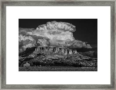 Black Mesa Framed Print by Keith Kapple
