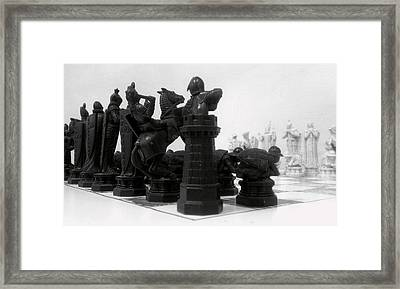 Black Opening Framed Print by Kevin D Davis