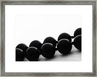 Black Pearls Framed Print by Blink Images