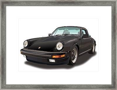 Black Porsche 911 Sc Targa  Framed Print by Alain Jamar