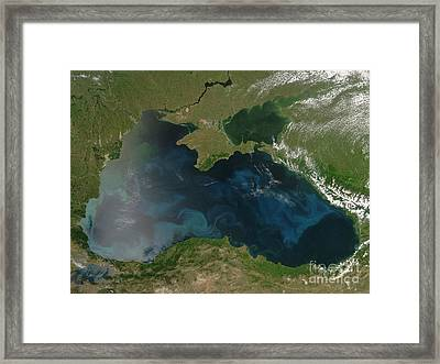 Black Sea Phytoplankton Framed Print by Nasa