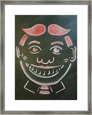 Black Tilly With Red And White Framed Print by Patricia Arroyo