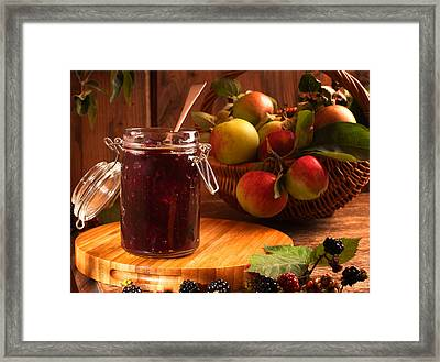 Blackberry And Apple Jam Framed Print by Amanda Elwell